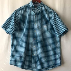 Chaps Easy Care Plaid Button Down Shirt.